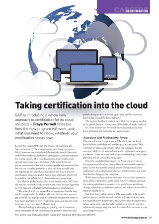 Taking certification into the cloud