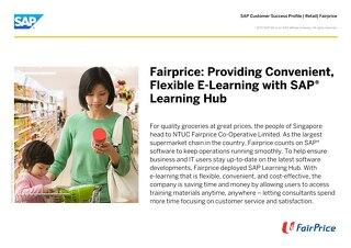 Fairprice: Providing Convenient, Flexible E-Learning with SAP Learning Hub