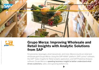 Grupo Merza: Improving Wholesale and Retail Insights with Analytic Solutions from SAP