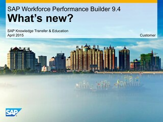 SAP Work Performan Builder 9.4 - What's New?