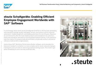 steute Schaltgeräte: Enabling Efficient Employee Engagement Worldwide