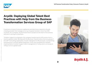 Arcelik: Deploying Global Talent Best Practices with Help from the Business Transformation Services Group of SAP