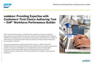 vodakon: Providing Expertise with Customers' First-Choice Authoring Tool – SAP® Workforce Performance Builder