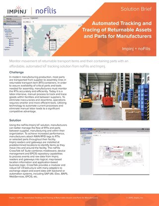 Manufacturing Solution: Automated Tracking and Tracing of Returnable Assets and Parts for Manufacturers