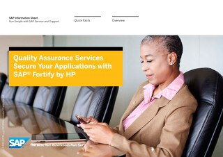 Quality Assurance Services: Secure Your Applications with SAP Fortify by HP