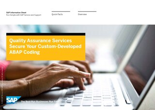 Quality Assurance Services: Secure Your Custom-Developed ABAP Coding