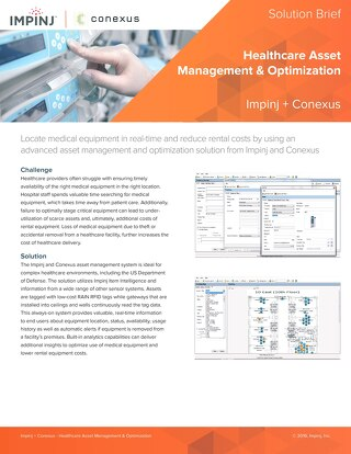 Healthcare Asset Management and Optimization
