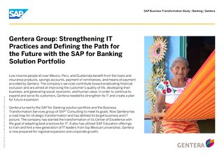 Gentera Group: Strengthening IT Practices and Defining the Path for the Future with the SAP for Banking Solution Portfolio