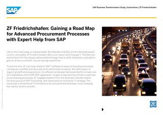 ZF Friedrichshafen: Gaining a Road Map for Advanced Procurement Processes with Expert Help from SAP