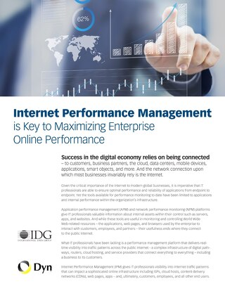 Internet Performance Management is Key to Maximizing Enterprise Online Performance