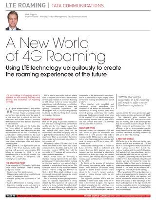 New World of 4G Roaming
