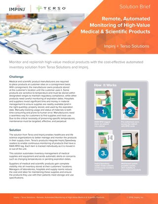 Remote, Automated Monitoring of High-Value Medical & Scientific Products