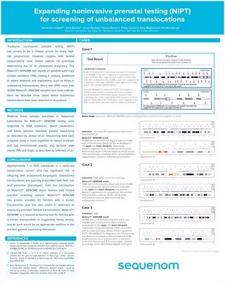 Expanding noninvasive prenatal testing (NIPT) for screening of unbalanced translocations