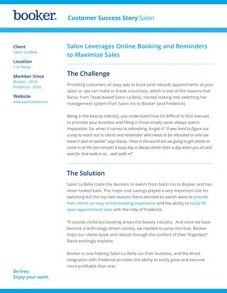 Salon La Bella - Booker Customer Success Story
