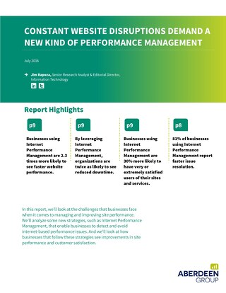 Aberdeen Research Report - Constant Website Disruptions Demand a New Kind of Performance Management