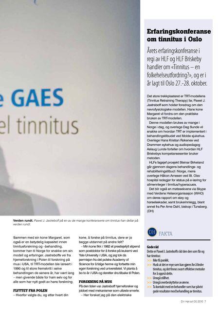 tinnitus behandling norge