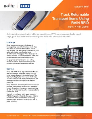 Track Returnable Transport Items Using RAIN RFID