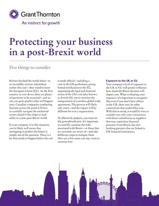 Protecting your business in a post-Brexit world