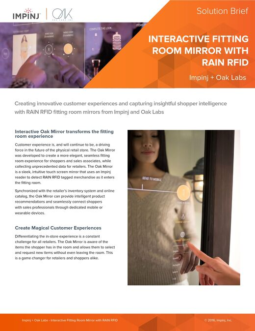 Interactive Fitting Room Mirror with RAIN RFID