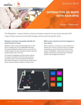 Interactive 3D Maps with RAIN RFID