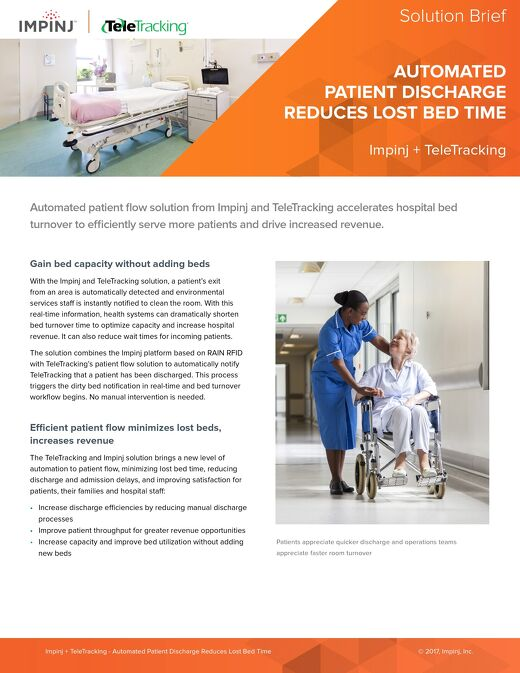 Automated Patient Discharge with TeleTracking