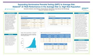 Expanding Noninvasive Prenatal Testing (NIPT) to Average Risk: MaterniT® 21 PLUS Performance in the Average Risk vs. High Risk Population