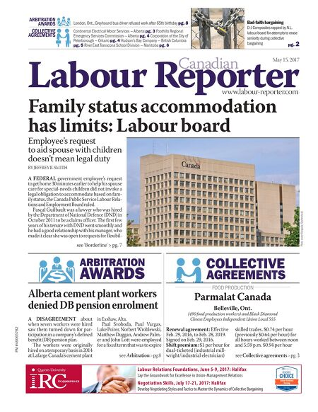 Canadian Labour Reporter Sample May 15 2017