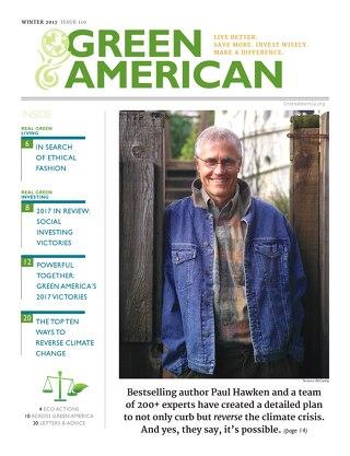 Green American #110, Winter 2017