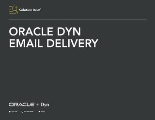 Solution Brief: Email Delivery