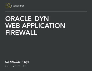 Solution Brief - Oracle Dyn WAF