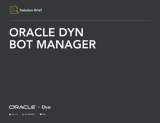 Solution Brief - Oracle Dyn Bot Manager