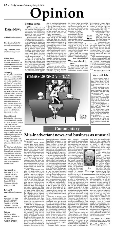 Red Bluff Daily News - May 08, 2010
