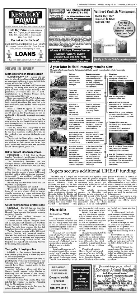Commonwealth Journal - January 13, 2011