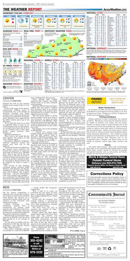 Commonwealth Journal - September 1, 2009