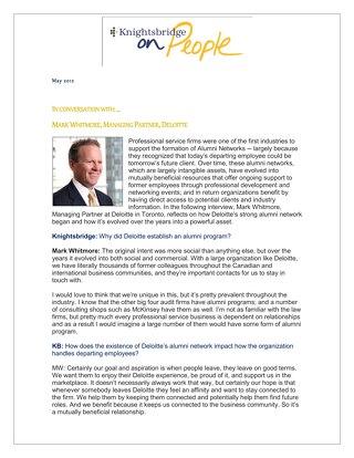Mark Whitmore, Managing Partner, Deloitte