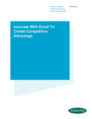 Innovate With Email to Create Competitive Advantage