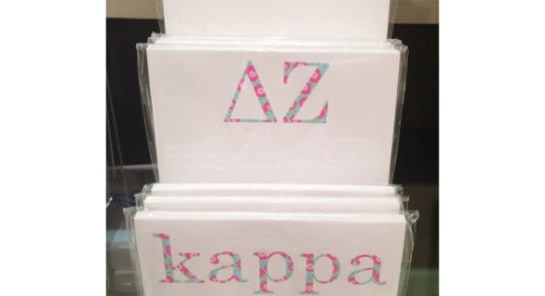 A peek at some of it newest (and prettiest) sorority notepads!...