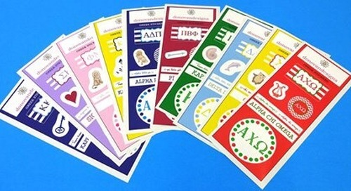 Our new greek stickers are perfect for notes, planners or...