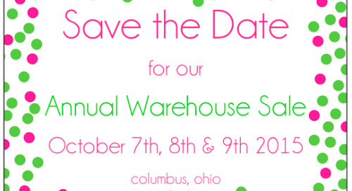 Save the date for a crowd favorite, our annual warehouse sale!