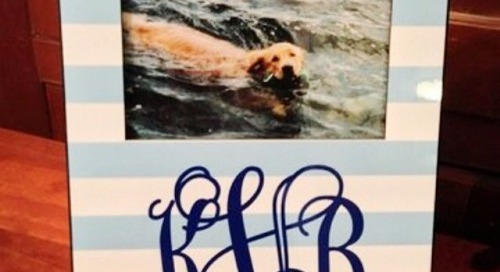 Personalize a preppy picture frame just in time for the dog days...
