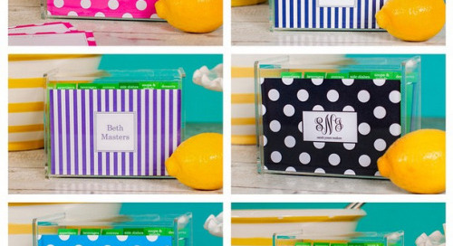 Take your pick! We love our personalized recipe boxes as...