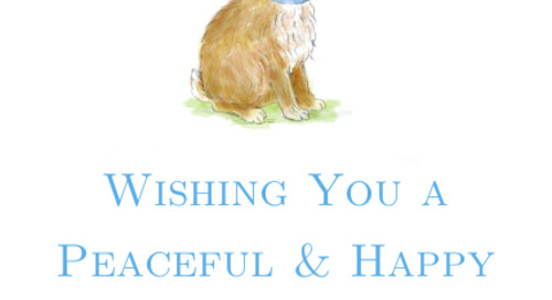 Wishing you a happy and peaceful easter! xx dd
