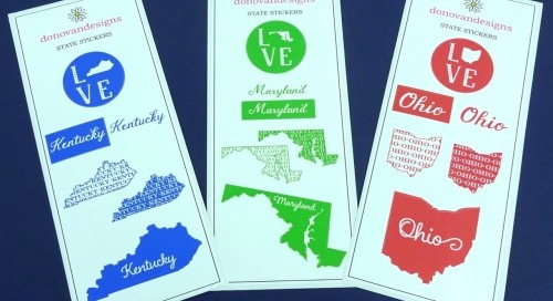 Introducing…*NEW* state stickers!   Show your pride with...