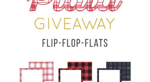 Don't forget to enter our MAD for PLAID flip flop flat...