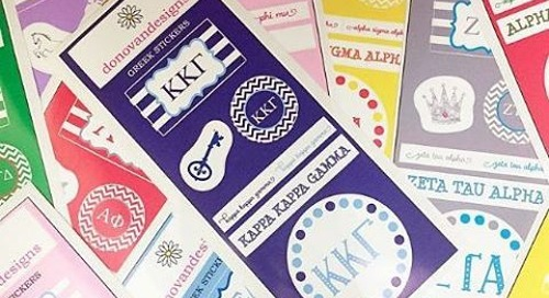 What do you think of our sorority stickers? We love them for...