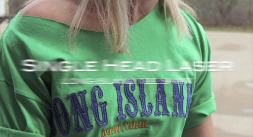 Single Head Laser Long Island Applique