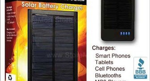 Universal Solar Powered Battery Charger for USB Devices