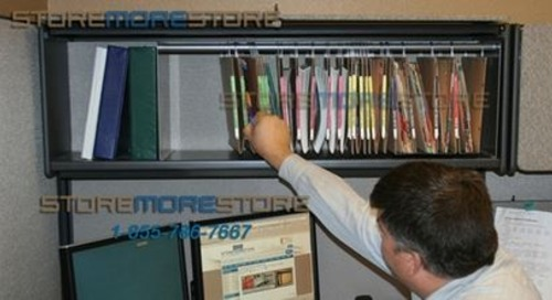Oblique Shelf Organizers Efficiently Store Files & Documents