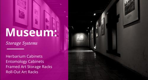 Museum Storage Systems | Herbarium & Entomology Cabinets | Framed Art Racks