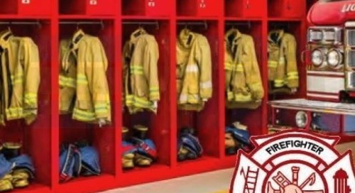 Turnout Lockers for Storing Firefighter Gear